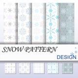 Sneeuwpatroon Stock Foto