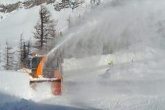 Sneeuwploeg Royalty-vrije Stock Afbeeldingen