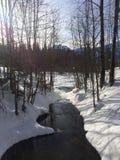 Sneeuwrivier Stock Foto