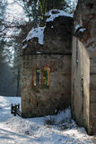 Sneeuwruïne royalty-vrije stock afbeeldingen