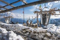Sneeuwscène Royalty-vrije Stock Afbeeldingen