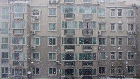 Sneeuwscène Stock Foto's