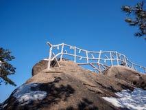 Sneeuwscène op huangshan berg Royalty-vrije Stock Fotografie