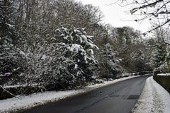 Sneeuwscènes in Schotland royalty-vrije stock afbeelding