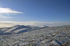 Sneeuwscènes in Schotland royalty-vrije stock afbeeldingen