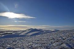 Sneeuwscènes in Schotland stock fotografie