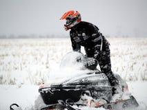 Sneeuwscooter Royalty-vrije Stock Afbeeldingen