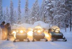 Sneeuwscooter Stock Afbeeldingen