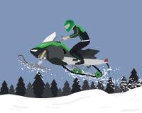Sneeuwscooterreizen Royalty-vrije Stock Foto's