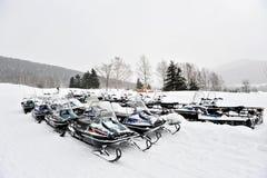 Sneeuwscooters Stock Fotografie