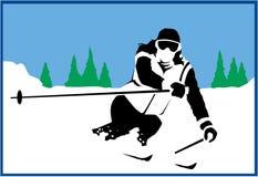 Sneeuwskiër Royalty-vrije Stock Afbeelding