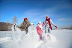 Sneeuwspel Stock Afbeeldingen