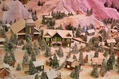 Sneeuwstad royalty-vrije stock fotografie