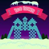 Sneeuwstad Royalty-vrije Stock Afbeelding
