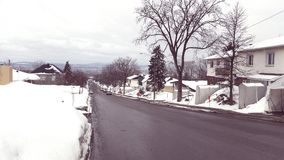 Sneeuwstad royalty-vrije stock foto's