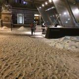 Sneeuwstation - Groen Kegelen Royalty-vrije Stock Afbeelding