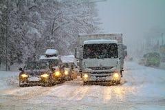 Sneeuwstorm Stock Foto's