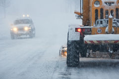 Sneeuwstorm Stock Foto