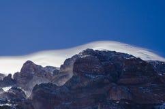 Sneeuwstorm op de Bovenkant Royalty-vrije Stock Foto's