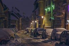 Sneeuwstraat Royalty-vrije Stock Foto