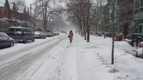 Sneeuwstraat in Toronto royalty-vrije stock afbeelding