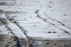 Sneeuwstrand Stock Afbeeldingen