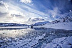 Sneeuwstrand Royalty-vrije Stock Fotografie