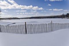 Sneeuwstrandomheining stock foto's