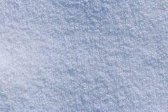 Sneeuwtextuur op een zonnige dag Stock Fotografie