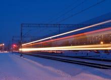 Sneeuwtrein Stock Foto