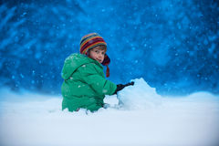 sneeuwval Stock Foto