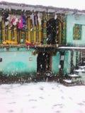 sneeuwval stock afbeeldingen