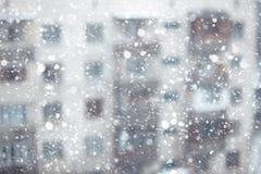 Sneeuwval vóór Kerstmis Royalty-vrije Stock Foto