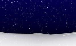 Sneeuwvalachtergrond Stock Afbeeldingen