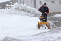 Sneeuwverwijdering Stock Fotografie