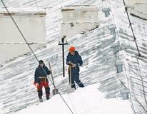 Sneeuwverwijdering Royalty-vrije Stock Afbeeldingen