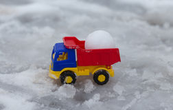 Sneeuwverwijdering Stock Foto