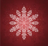 Sneeuwvlok. Royalty-vrije Stock Afbeelding