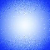 Sneeuwvlok abstracte blauwe achtergrond Royalty-vrije Stock Afbeelding