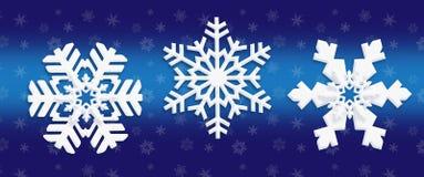 Sneeuwvlok achtergrondbehang Stock Afbeelding