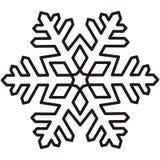 Sneeuwvlok, contour vector illustratie