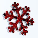 sneeuwvlok De decoratie van Kerstmis Stock Illustratie