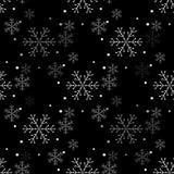 Sneeuwvlok eenvoudig naadloos patroon Abstract behang, verpakkende decoratie Symbool van de winter, Vrolijke Kerstmisvakantie royalty-vrije illustratie
