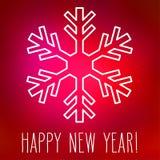 Sneeuwvlok en Gelukkig Nieuwjaar Royalty-vrije Stock Fotografie