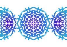 sneeuwvlok Het naadloze patroon van Kerstmis abstract patroon in vector Decoratief kant Vector illustratie Stock Foto