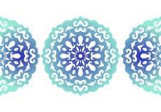 sneeuwvlok Het naadloze patroon van Kerstmis abstract patroon in vector Decoratief kant Vector illustratie Stock Afbeeldingen