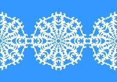 sneeuwvlok Het naadloze patroon van Kerstmis Cirkelornament, decoratief kant Vector illustratie Royalty-vrije Stock Afbeelding