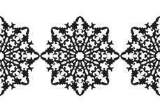 sneeuwvlok Het naadloze patroon van Kerstmis Cirkelornament, decoratief kant Vector illustratie Stock Afbeeldingen