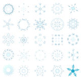Sneeuwvlok - Kerstmis Royalty-vrije Stock Foto's