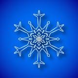 Sneeuwvlok met schaduw Royalty-vrije Stock Afbeeldingen